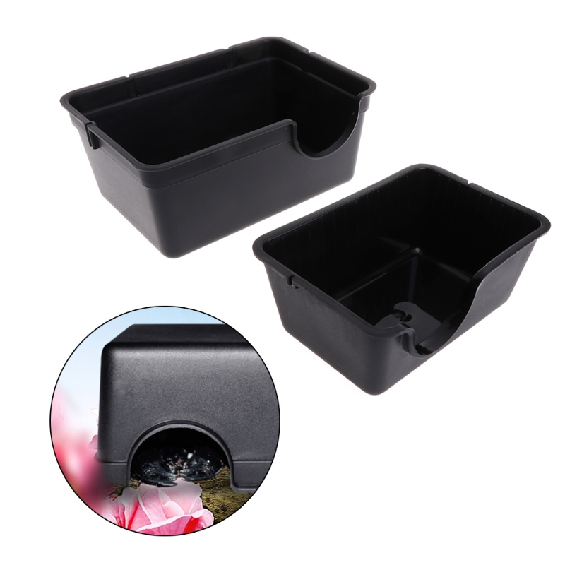 Reptile Box Hiding Case Hole Water Feeder Spider Turtle Snake Supplies Centipede D08F