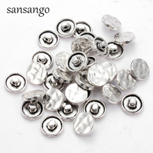 16MM Metal Sewing Button Snap Fasteners Jean Buttons Round Craft Clothing Accessories Handmade DIY Jewelry Making Decaretion 25pcs anchor urea button with four eye buttons retro fire button diy crafts clothing sewing accessories