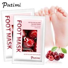 PUTIMI 6packs Feet Peeling Mask Dead Skin Peeling Off Mask for Legs Exfoliation Foot Mask Peel Pedicure Socks Foot Patch