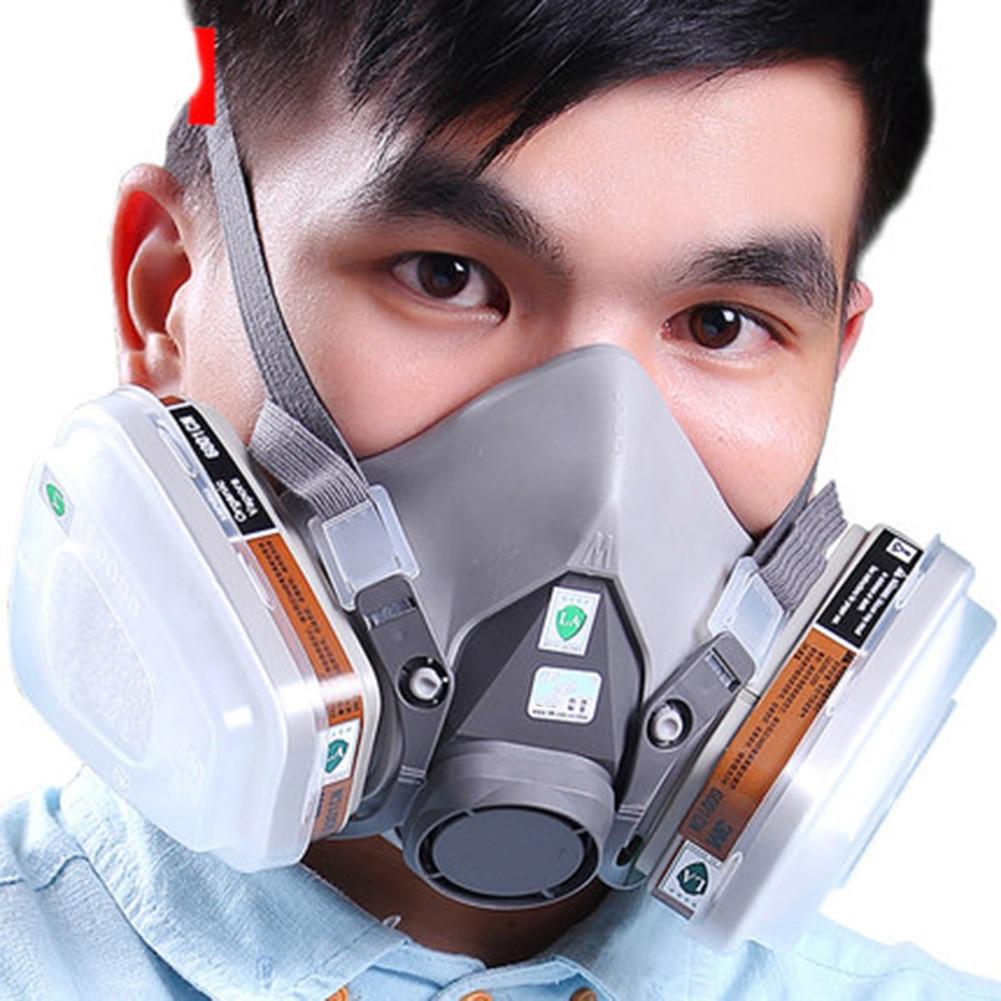2pcs Painting Spray Gas Mask Filter Box Fitting 6001 Organic Vapor Cartridge For 6200 7502 6800 Ff402 Series Respirator Mask