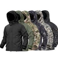 Men 3 in 1 Hiking Jacket Tactical Outdoor Thermal Hoodie Men's Windbreakers Waterproof Man Camouflage Military Uniform Hunting