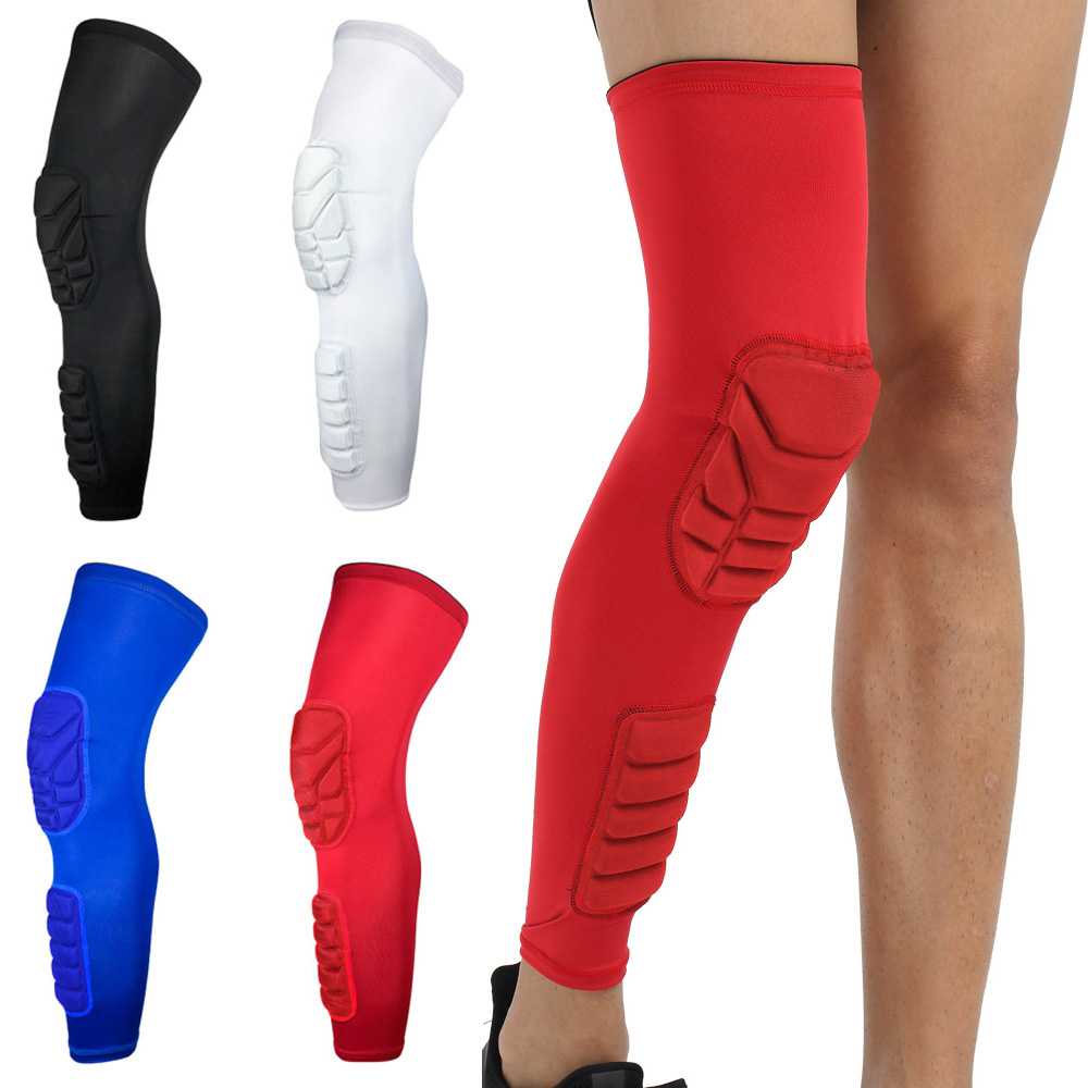 Sports Knee Pads Long Sleeve Knee Calf Anti-collision Sports Protective Gear