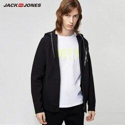 Мужской повседневный спортивный кардиган JackJones, трикотажный свитер с капюшоном, Мужская одежда, 219333525