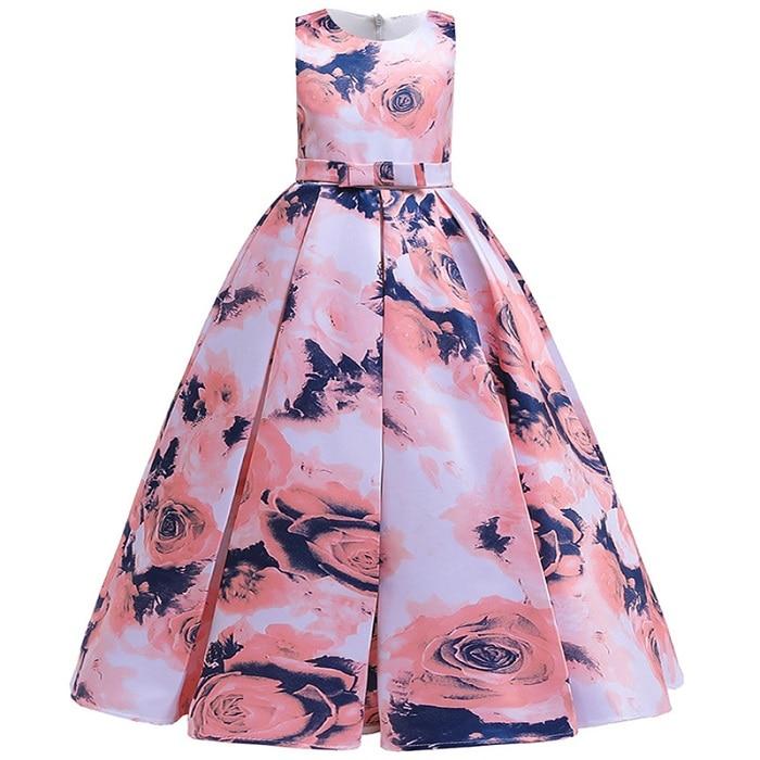 Пышные платья для девочек; платье для первого причастия; детское платье для свадебной вечеринки; платье для дня рождения; кружевные вечерние платья с лепестками для девочек; длинное платье для торжеств - Цвет: orange