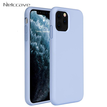 50 Pieces Liquid Silicone Cases For Apple iPhone 11 Pro XS Max XR X 8 Plus 7 6 6S Soft thin Phone Case Candy Color Back Cover