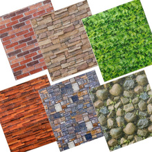 Pe Foam 3d Wall Stickers DIY Decor Self Adhesive Waterproof Brick Wallpaper Kids Room Bedroom  Kitchen Waterproof Sticker