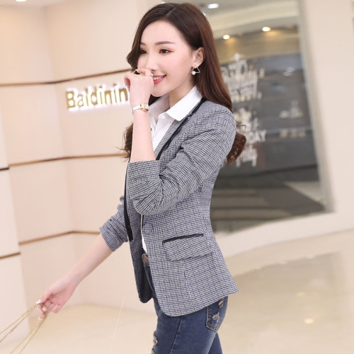2020 Spring Autumn Women Blazers And Jackets Plaid Suit Slim Long Sleeve Leisure Coat Single Button Formal Work Wear Female