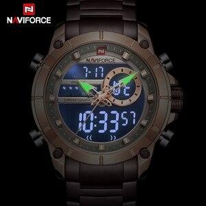 Image 2 - ใหม่ผู้ชายNAVIFORCEทหารแฟชั่นนาฬิกาควอตซ์นาฬิกาข้อมือกันน้ำแบบDualแสดงนาฬิกาชายนาฬิกาRelogio Masculino