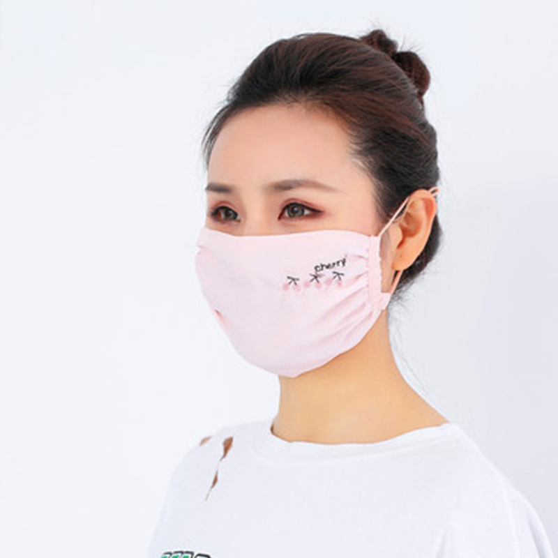 Face Mask Spring Summer Thin Section Breathable UV-Protection Chiffon European And American Style Haze-resistant Mask Manufactur