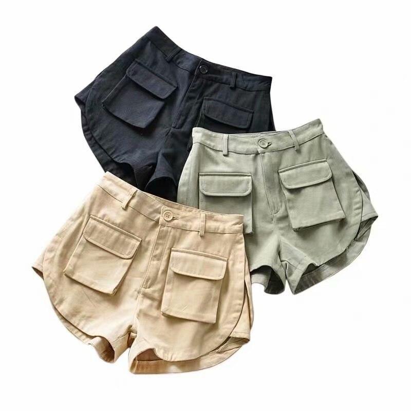 High Waist Shorts For Women Summer Booty Shorts Korean Cargo Short Pants Vintage Streetwear