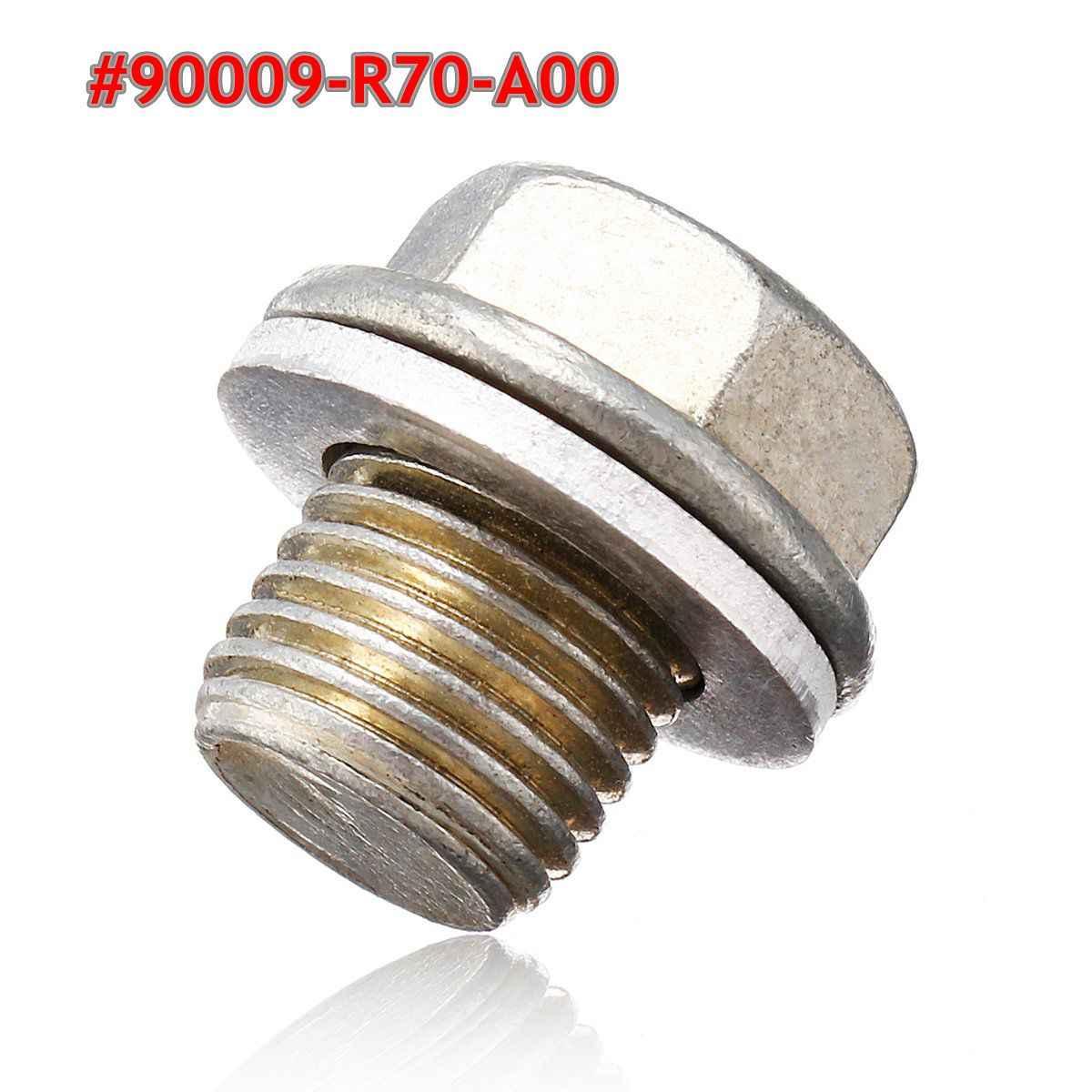#90009-R70-A00 M14 * 1.25 Motorolie Pan Aftapbout Plug Met Wasmachine Voor Honda Voor Acura Voor Accord 1 pcs/2 Pcs Noten & Bouten