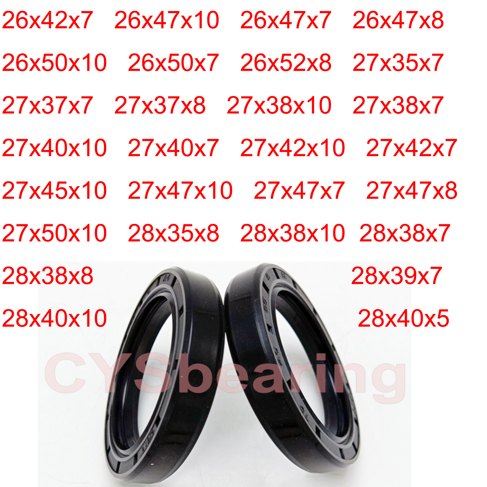 OIL SEAL ROTARY SHAFT 38MM SHAFT CHOOSE YOUR SIZE