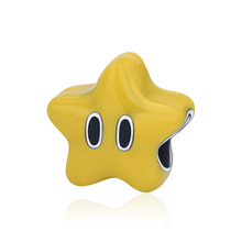 Strollgirl 100% 925 Sterling Silver Yellow Enamel Bead Star Charm Fits Pandora Bracelet 2019 Woman Fashion Jewelry Free Shipping