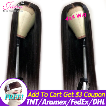 Jarin Hair Lace Front Human Hair Wigs Straight Brazilian Remy Short Frontal Wigs For Black Women 4×4 Closure wig Natural Color
