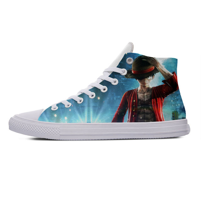 ONE PIECE MONKEY D.LUFFY THEMED HIGH TOP SHOES