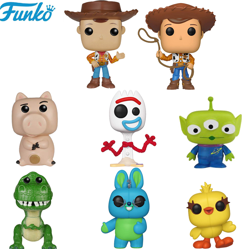 FUNKO POP Toy Story 4 Forky Rex Ducky Woody Brinquedos Vinyl Action Figures Cartoon Collection Model Anime Toys Gifts 2F09