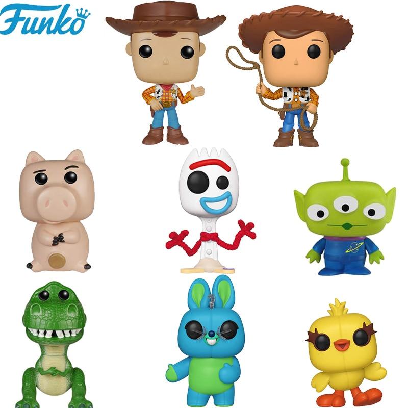 Funko pop brinquedo história 4 forky rex ducky woody brinquedos vinil figuras de ação dos desenhos animados coleção modelo anime brinquedos presentes 2f09