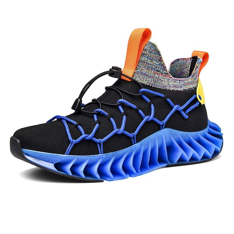 Модные детские кроссовки для мужчин высокого качества из сетчатой ткани, светоотражающие спортивная обувь для мужчин на открытом воздухе п...
