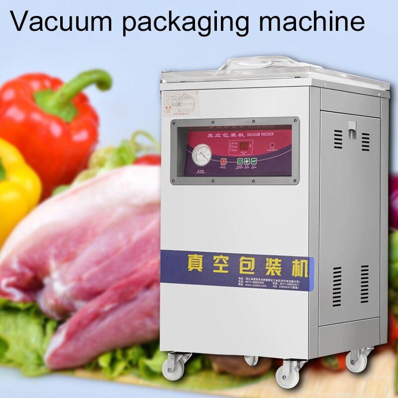 220 В Коммерческая вакуумная упаковочная машина автоматическая однокамерная вакуумная упаковочная машина пищевая упаковочная машина