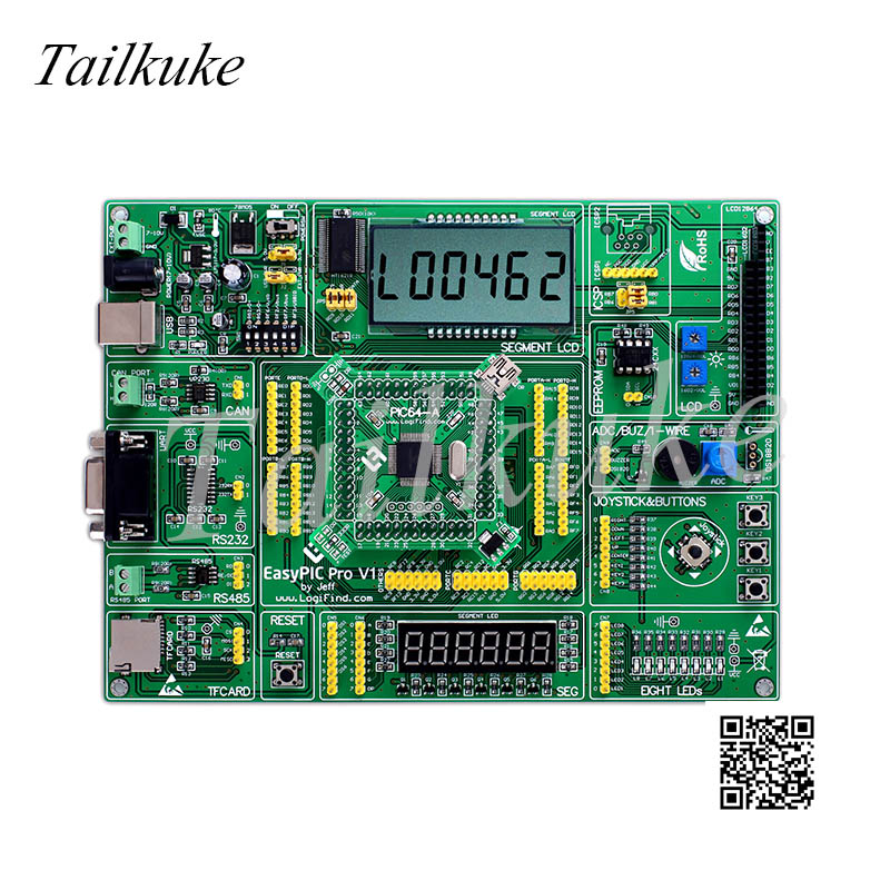 EasyPIC Pro Learning Development Board DsPIC PIC32 PIC24 with DsPIC33FJ128MC706(China)