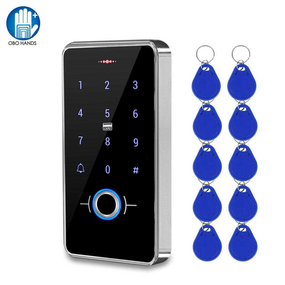 Наружная IP68 Водонепроницаемая кнопочная панель контроля доступа отпечатков пальцев RFID клавиатура сенсорная панель электронная система от...