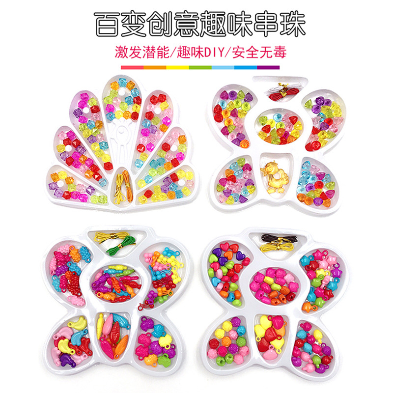 Children'S Educational Fun Beaded Bracelet Toy DIY Children Beaded Bracelet Material Threading Bracelets Necklace