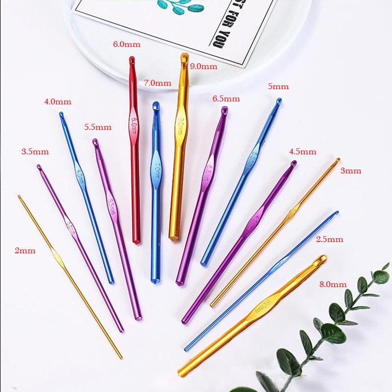 1PC Popular Sewing Needles Weave Crochet 2.0-10.0mm Crochet Hook High Quality Aluminum Oxide Knitting Needles