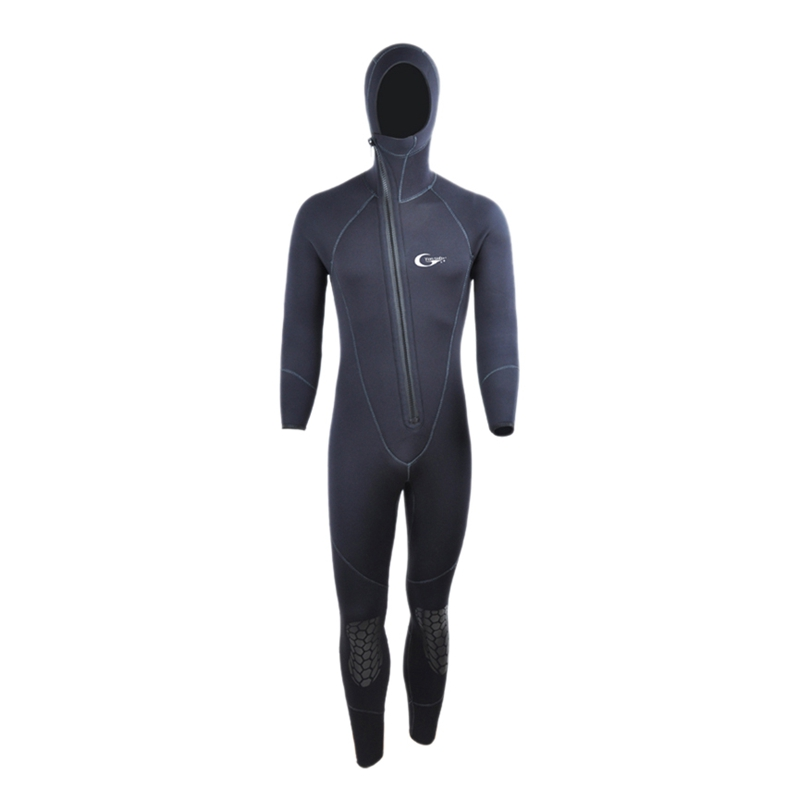 Yon Sub L 5mm Winter Warm Neoprene Scuba Diving Wetsuit 5mm Men Hood Surfing Front Zipper Snorkeling Spearfishing Diving Suit