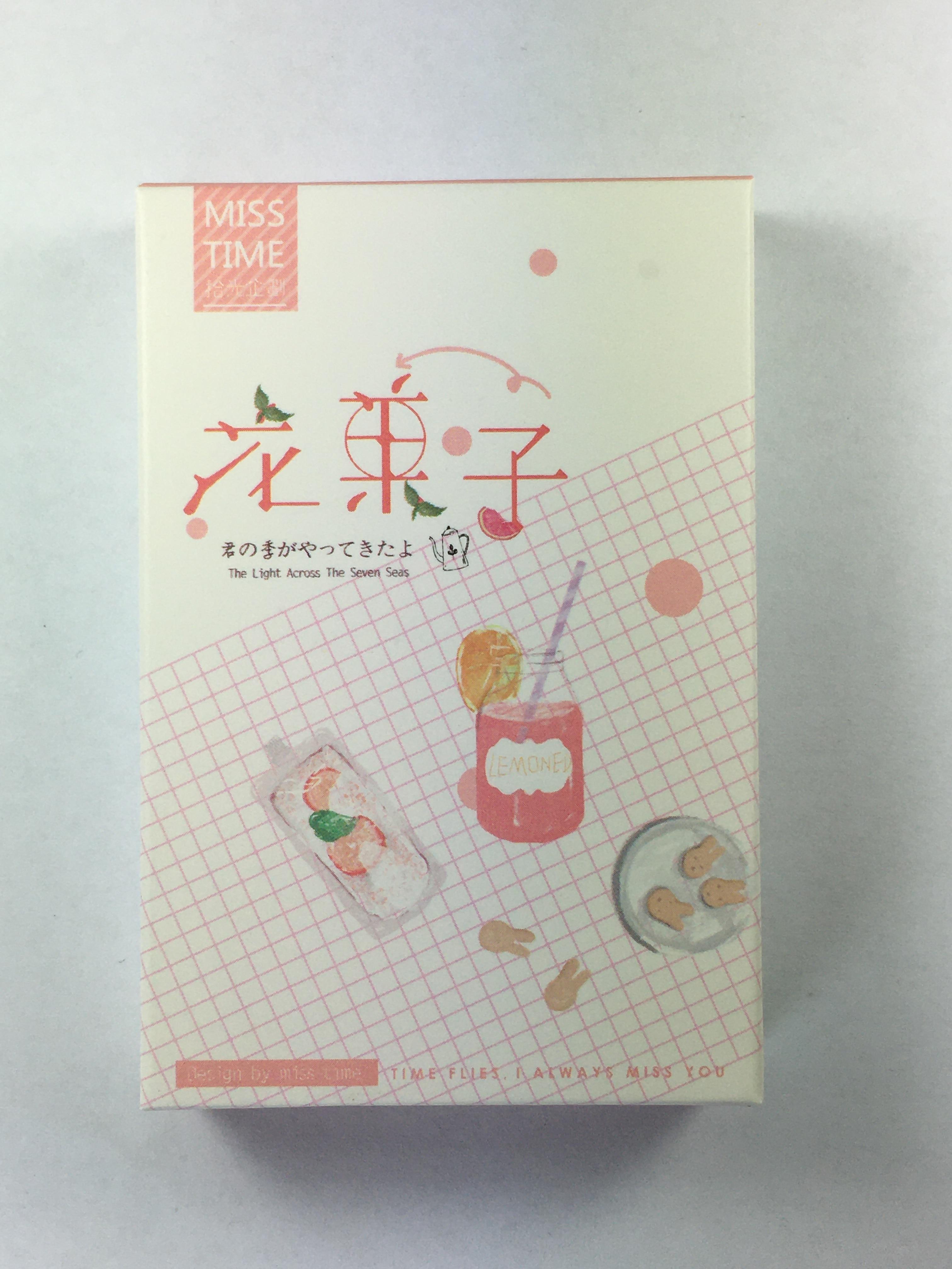 L40- Flower Fruit Paper Lomo Cards(1pack=28pieces)