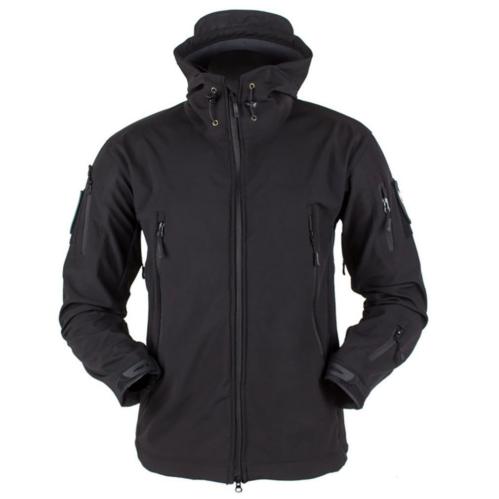 Outdoor Soft Shell Fleece Men And Women Windproof Waterproof Breathable Warm Three-In-One Coat Shark Leather Jacket