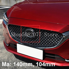 Solid Mirror Chrome M Emblem Badge for Mazda Atenza M3 M5 M6 M7 Car Styling Modified Upgrade Middle Grille Trunk Logo Sticker