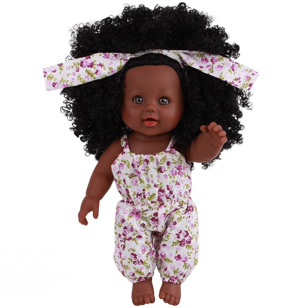 Bonecas de bebê afro-americano 12 polegadas, bonecas pretas @ 45