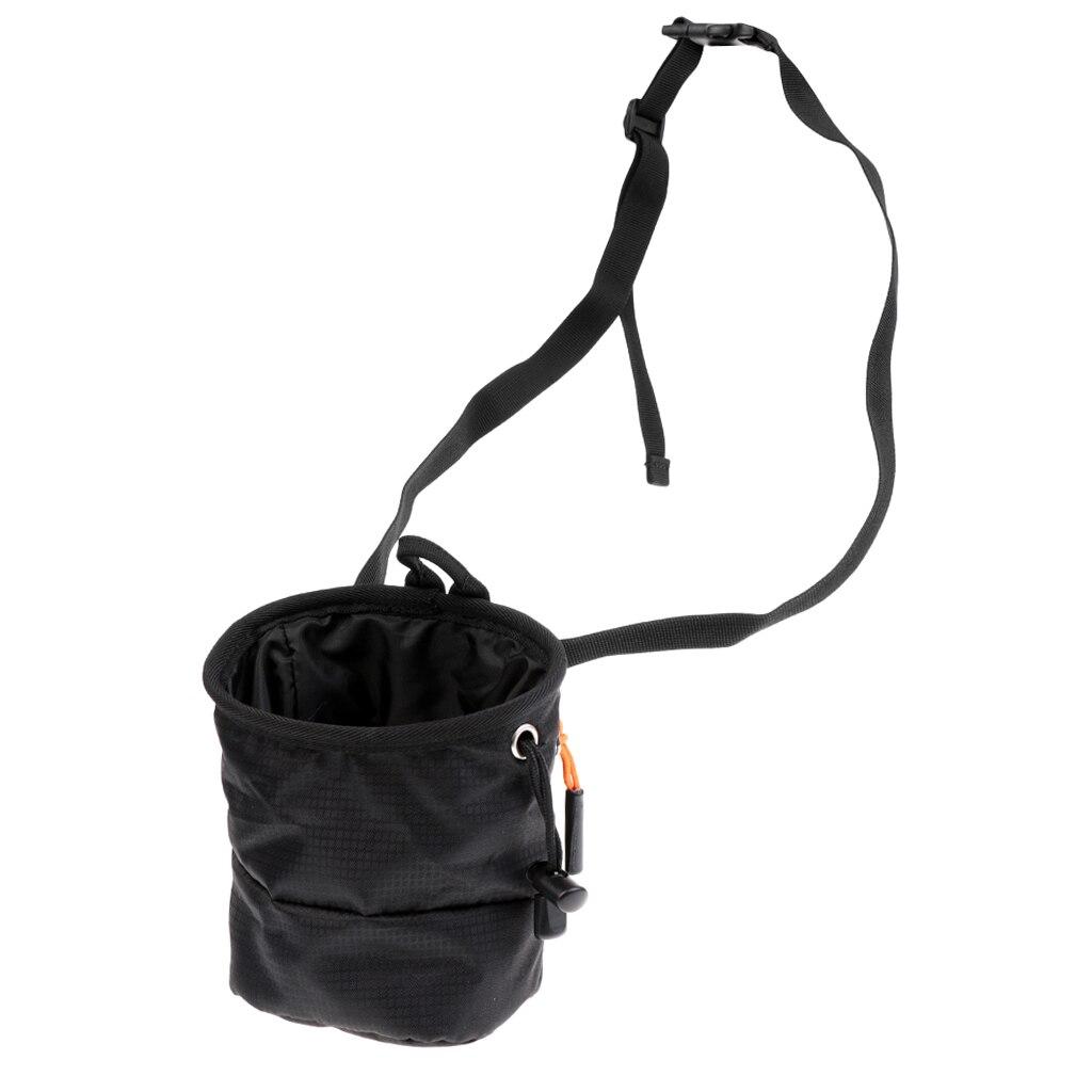 Climber Chalk Bag for Bouldering Rock Climbing Equipment w// Waist Belt Black