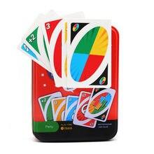 Mattel – jeux UNO classiques (boîte en fer), cartes à jouer, jeux de société, de fête, de divertissement