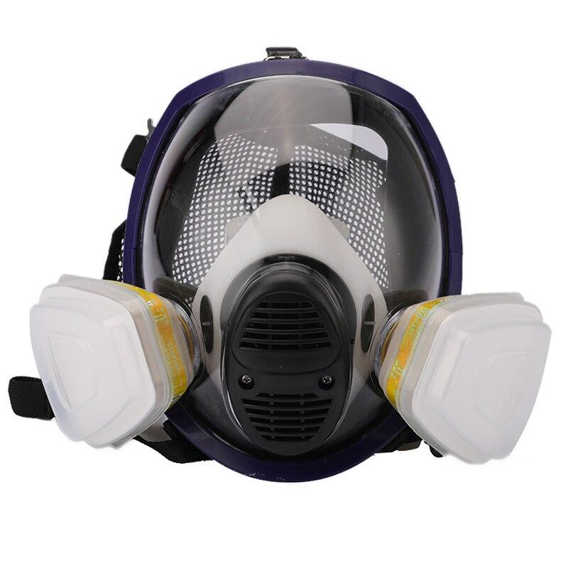 Химическая маска кислотная пыль респиратор краска пестицид спрей Силиконовый Фильтр лабораторный картридж Сварка лица респиратор противогаз