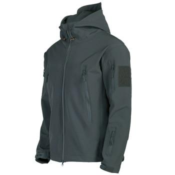 Military Shark Skin Soft Shell Jackets Men Tactical Windproof Waterproof jacket men Army Combat Jackets Mens Hooded Bomber Coats 4