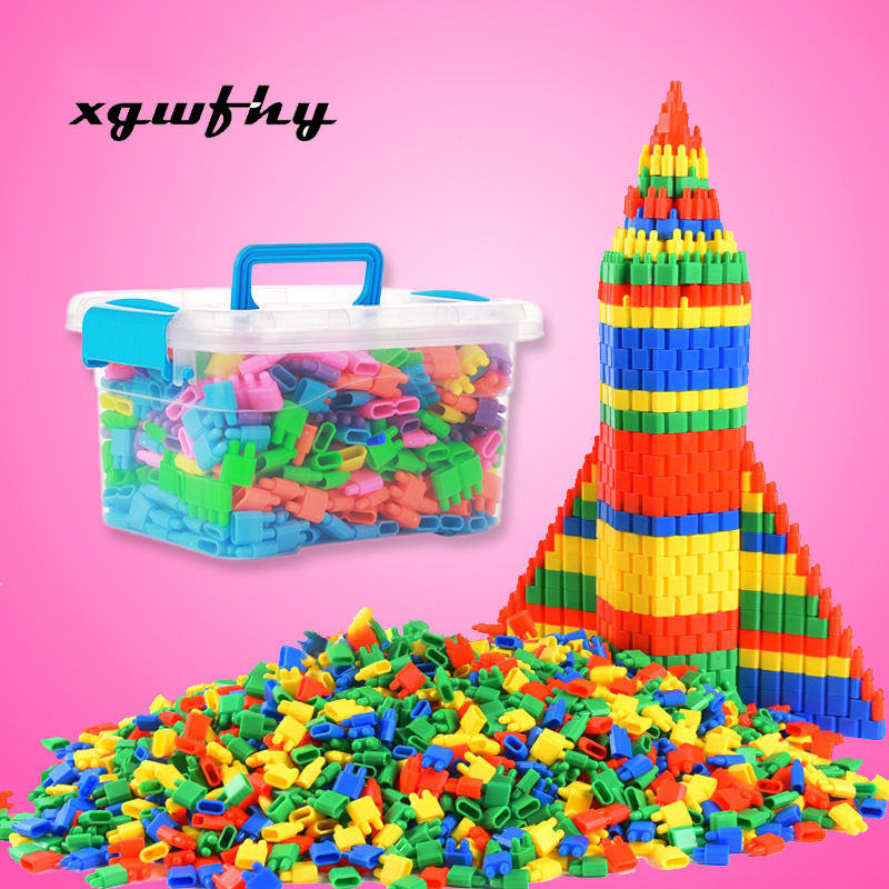 20+40+60pcs Fashion Plastic Bullet Building Blocks Kids Baby Educational Toys For Boys And Girls Children Christmas Gift JM172