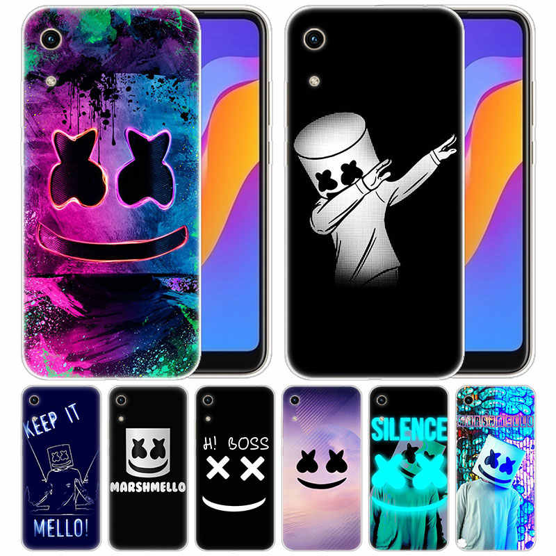 Роскошный силиконовый чехол DJ marshmallow для huawei Honor 9X 8A 7A 20 Pro 7X8X7 S 8S 8 9 10 Lite View 20 20i 10i Play Fashion Cover