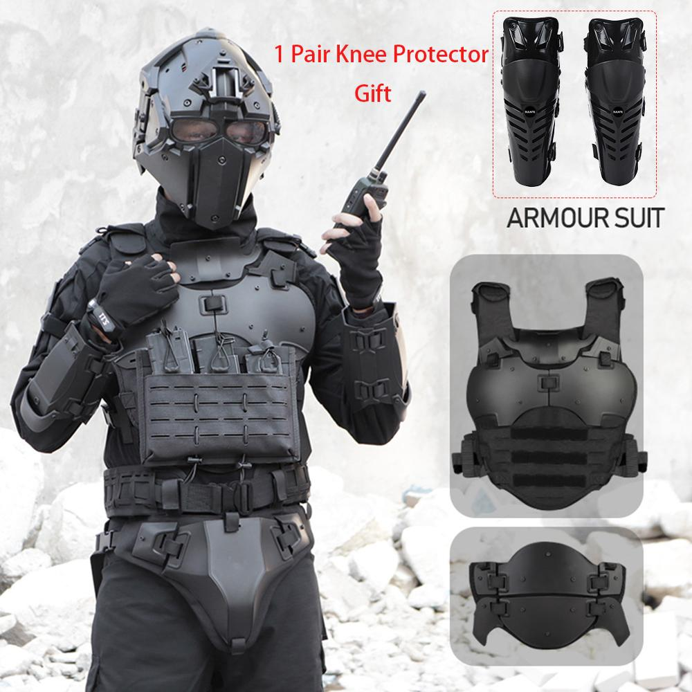 High Quality 1Pcs WST Outdoor Multi-Function Tactical Gears Armor Set Adjustable Tactical Elbow Pad Waist Seal - Black/Tan/Grey