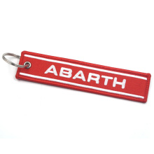 Key-Ring Car-Styling Metal Abarth 500 Gzhengtong Red Emblem-Badge 3D Fit-For New