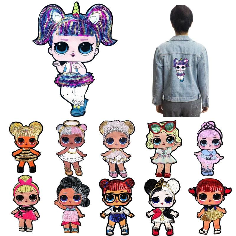 10Pcs Cartoon LOL Patches Women Fashion LoL Girls Lovely Fashion Boy Doll Embroidery Patch DIY Garment Decoration Sequins Cloth