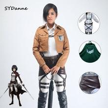 Veste de Cosplay Shingeki no Kyojin, veste de Titan, Costume de Cosplay, manteau, ceinture châle, ensembles complets