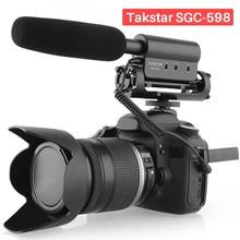 Takstar SGC-598 entrevista shotgun microfone gravação de voz microfone alto-falante para sony nikon canon dslr iphone android smartphone