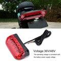 36 V/48 V электрический велосипед хвост светильник Электрический велосипед стоп-сигнал индикатор светодиодный задний светильник Предупрежде...