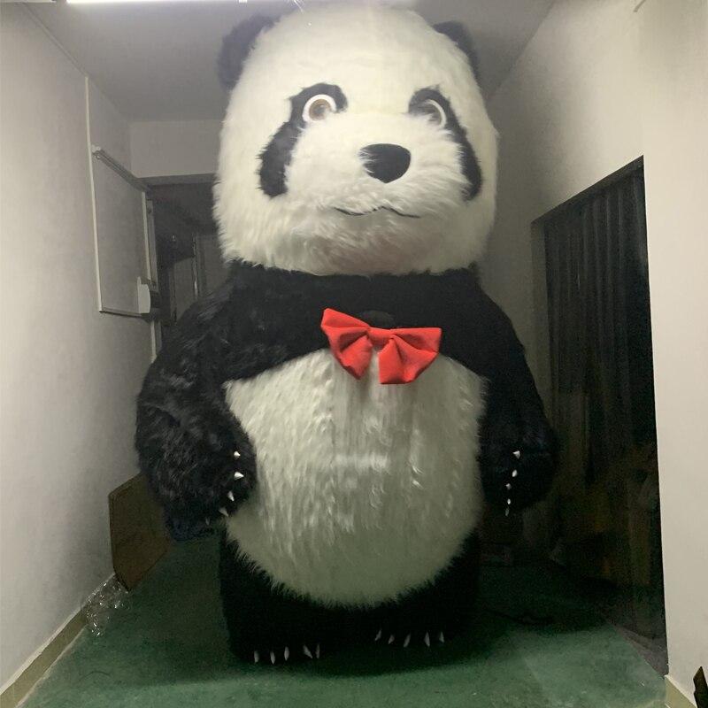 Vendendo Panda Inflável Inflável do Traje Da Mascote Do Urso Polar Traje Trajes de Halloween Para 3M De Altura Adequada Para 1.7m Para 1.95m