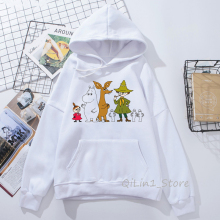 Harajuku Kawaii Whisky Design Moomins Little My hat sweatshirt women cute hoodie unisex hoody ladies autumn winter clothes