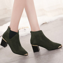 New With Steel Head Short All-match Boots Women Matting Leat