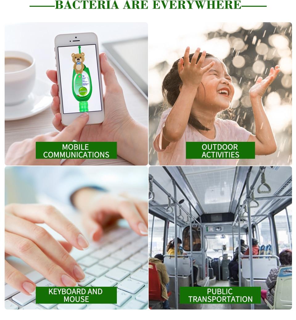 Hbb49a3458a0942b6a140934aafe32201k 50ml Travel Portable Hand Sanitizer Gel Anti-Bacteria Moisturizing Liquid Disposable No Clean Waterless Antibacterial Hand Gel