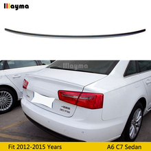 цены S6 style ABS plastic rear trunk spoiler For Audi A6 C7 Sedan 2012 2013 2014 2015 year Car spoiler Wing (Not fit Sline s6 rs6)