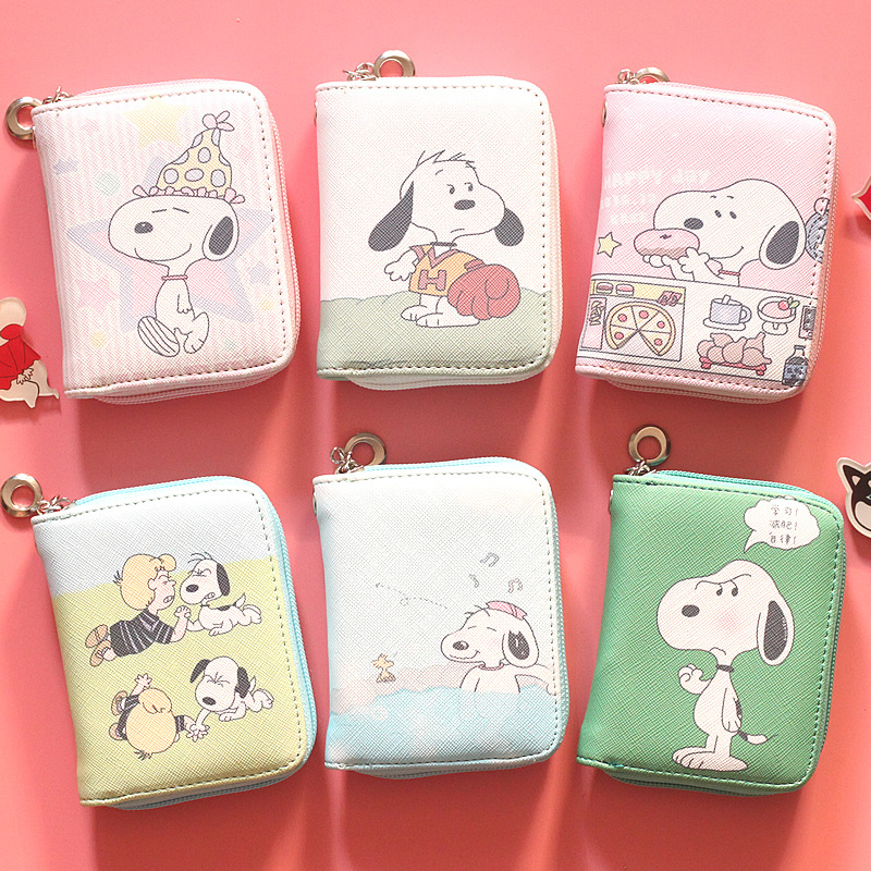 Famous Cartoon Dog Mini Zipper Wallet Children's Zero Wallet  INS STYLE Girl And Boy Coin Bag With Wristband